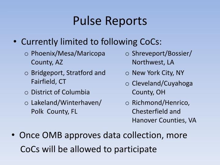 Pulse Reports