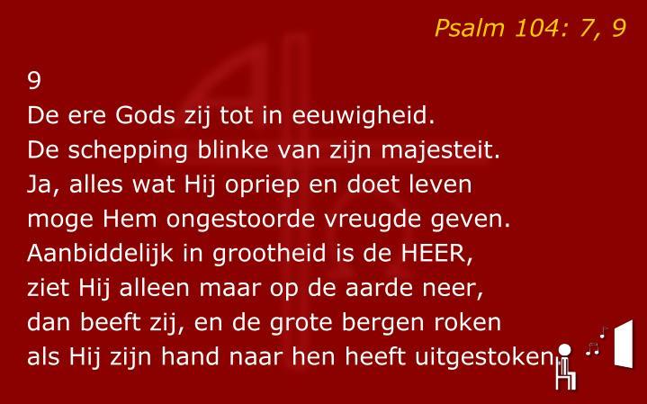 Psalm 104: 7, 9