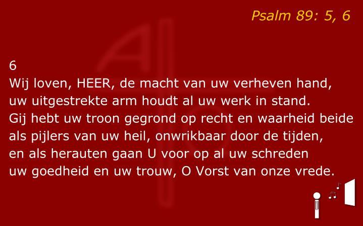Psalm 89: 5, 6
