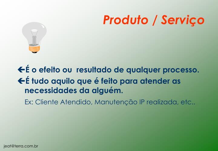 Produto / Serviço