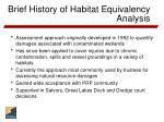 brief history of habitat equivalency analysis