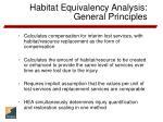 habitat equivalency analysis general principles