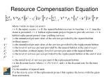 resource compensation equation