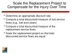 scale the replacement project to compensate for the injury over time