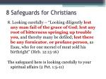 8 safeguards for christians8