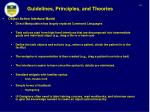 guidelines principles and theories56
