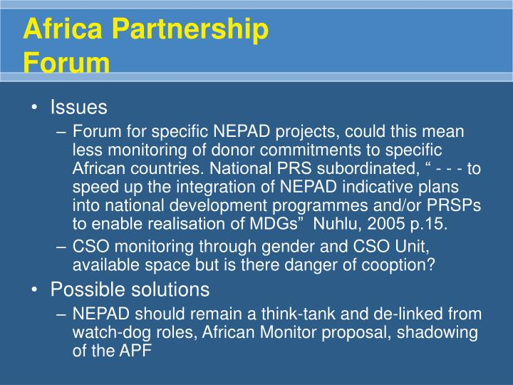 Africa Partnership Forum