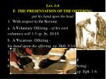 lev 1 4 f the presentation of the offering put his hand upon the head
