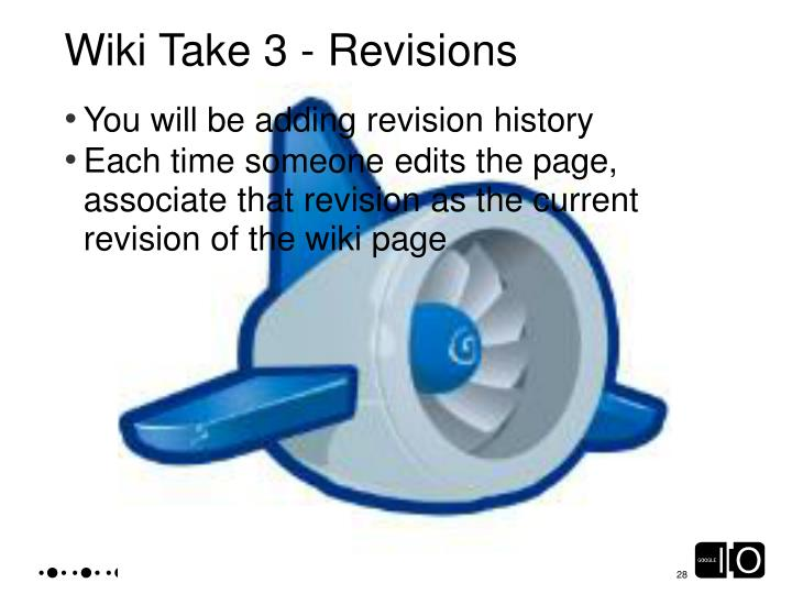 Wiki Take 3 - Revisions