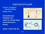mechanizmusok