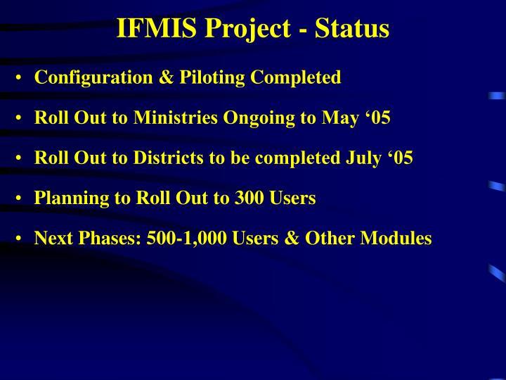 IFMIS Project - Status