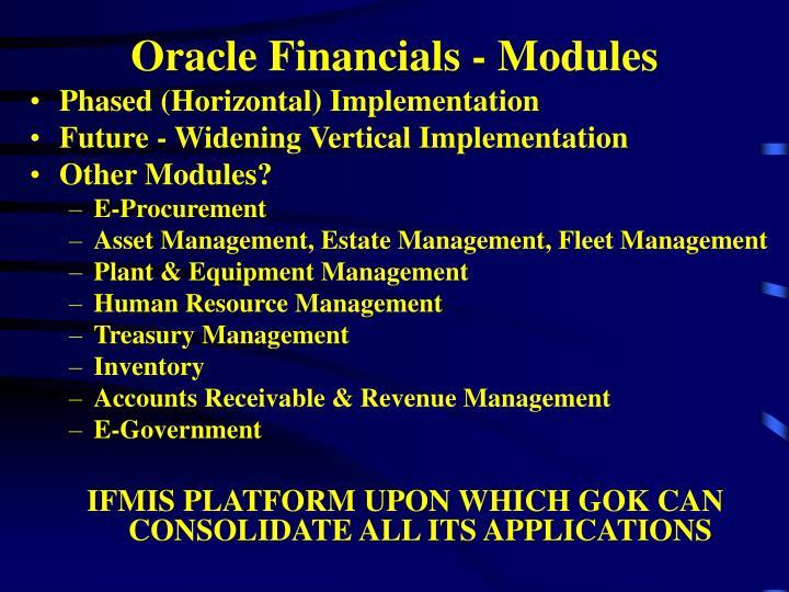 Oracle Financials - Modules
