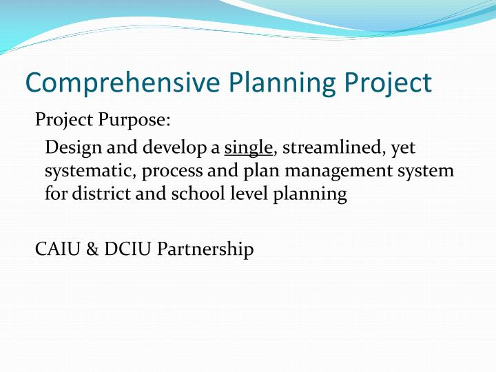 Comprehensive Planning Project