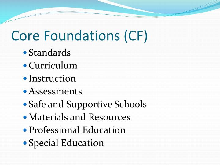 Core Foundations (CF)
