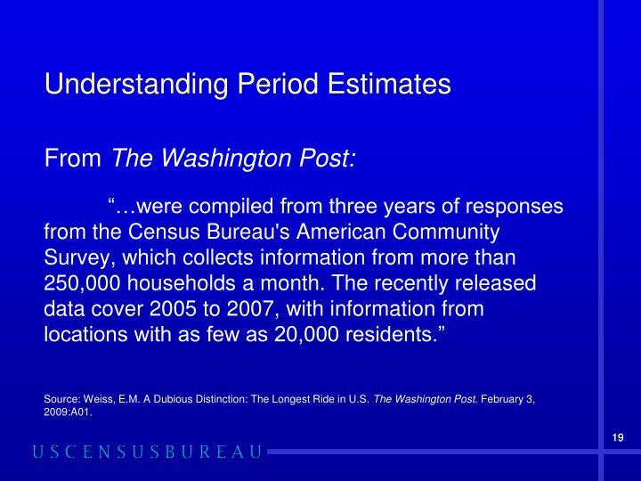 Understanding Period Estimates