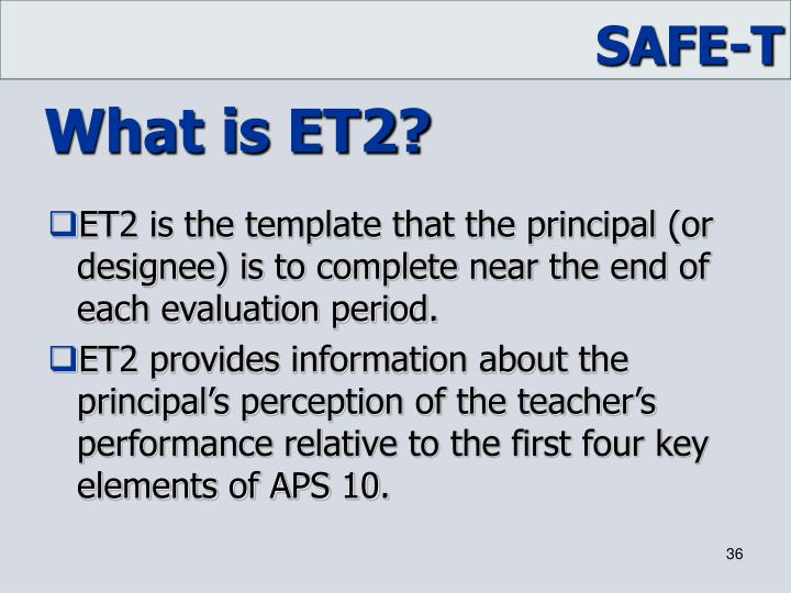 What is ET2?