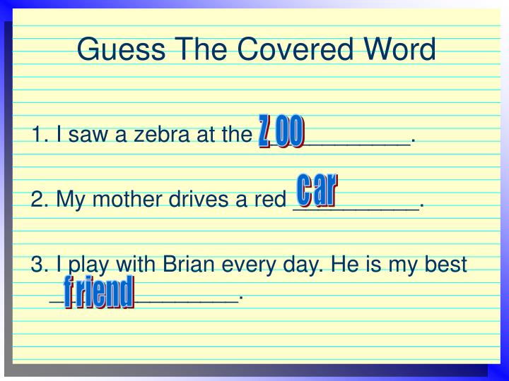 Guess the covered word1