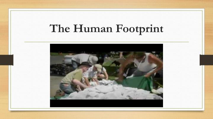 The Human Footprint