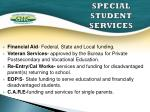 special student services