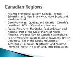 canadian regions