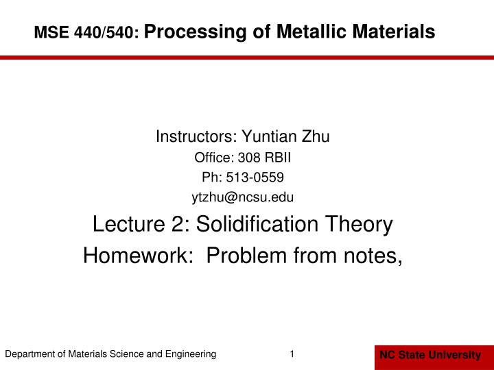 mse 440 540 processing of metallic materials n.