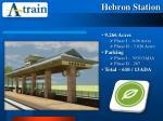 hebron station