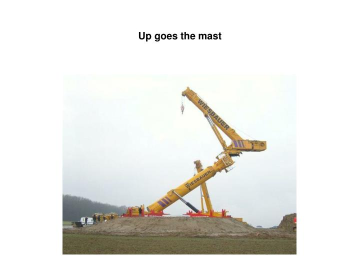Up goes the mast