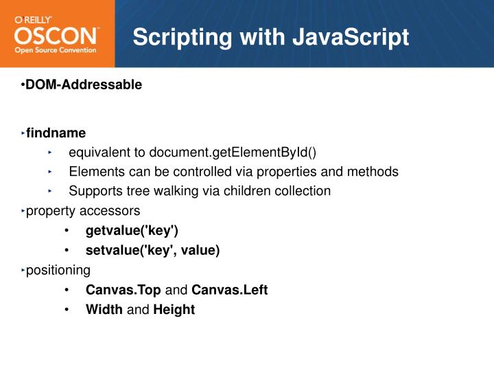 Scripting with JavaScript