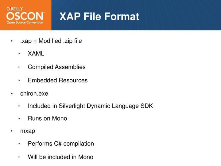 XAP File Format