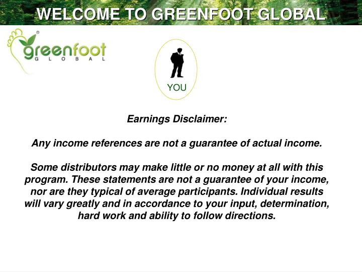 WELCOME TO GREENFOOT GLOBAL