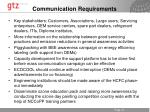 communication requirements