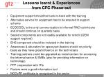 lessons learnt experiences from cfc phase out