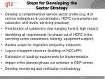 steps for developing the sector strategy