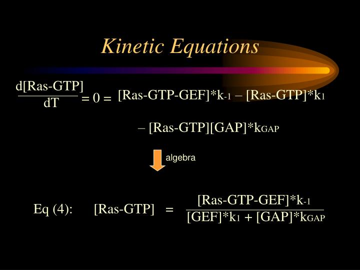 Kinetic Equations