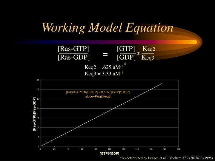 Working Model Equation