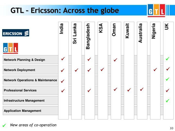 GTL – Ericsson: Across the globe