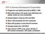 ppp in german development cooperation
