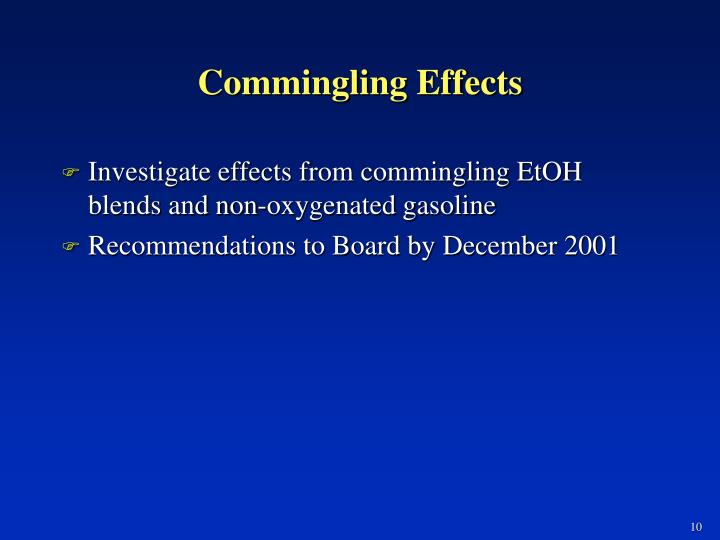 Commingling Effects