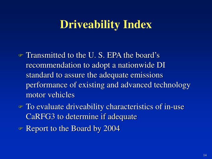 Driveability Index