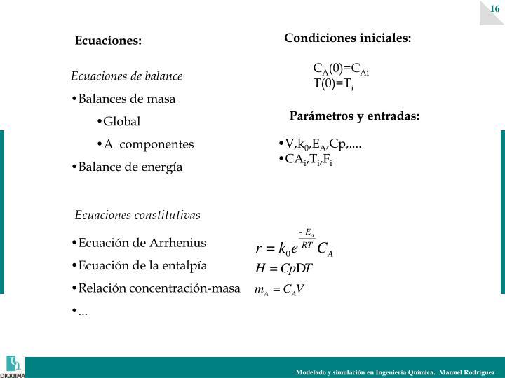 Ecuación de Arrhenius