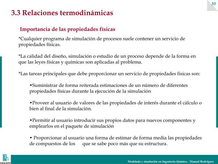 3.3 Relaciones termodinámicas