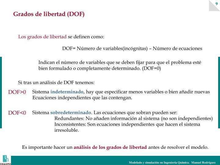 Grados de libertad (DOF)