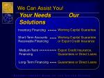 we can assist you