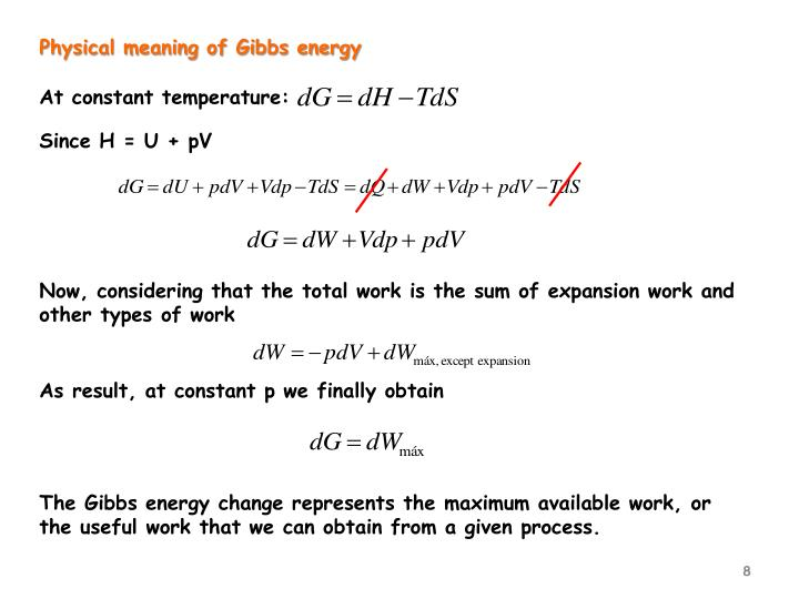 Physical meaning of Gibbs energy