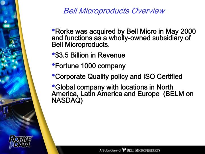 Bell microproducts overview