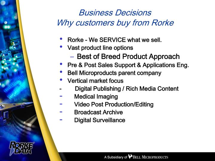 Rorke - We SERVICE what we sell.