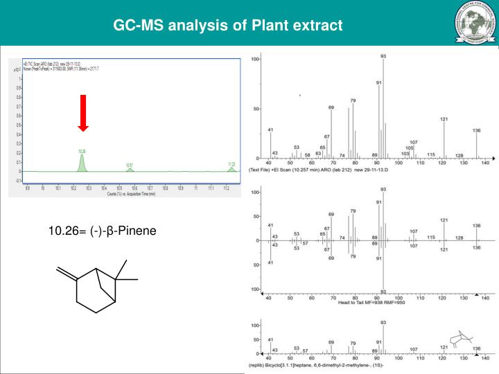 GC-MS analysis of Plant extract