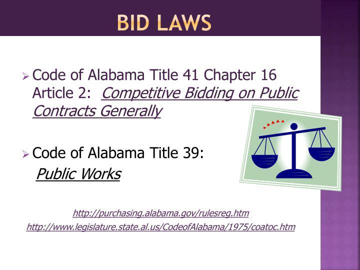 bid laws