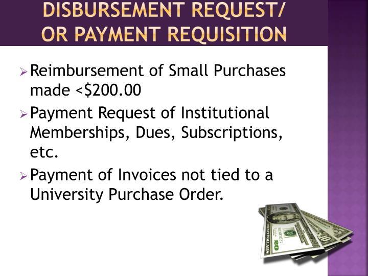 Disbursement Request/
