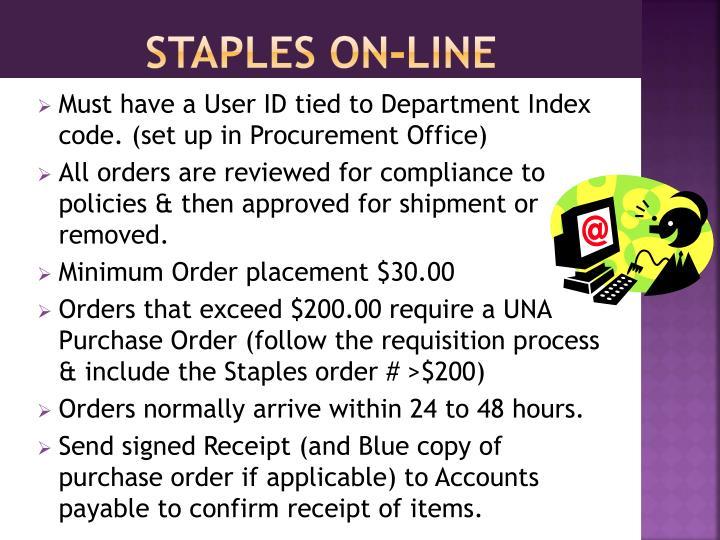 Staples on-line